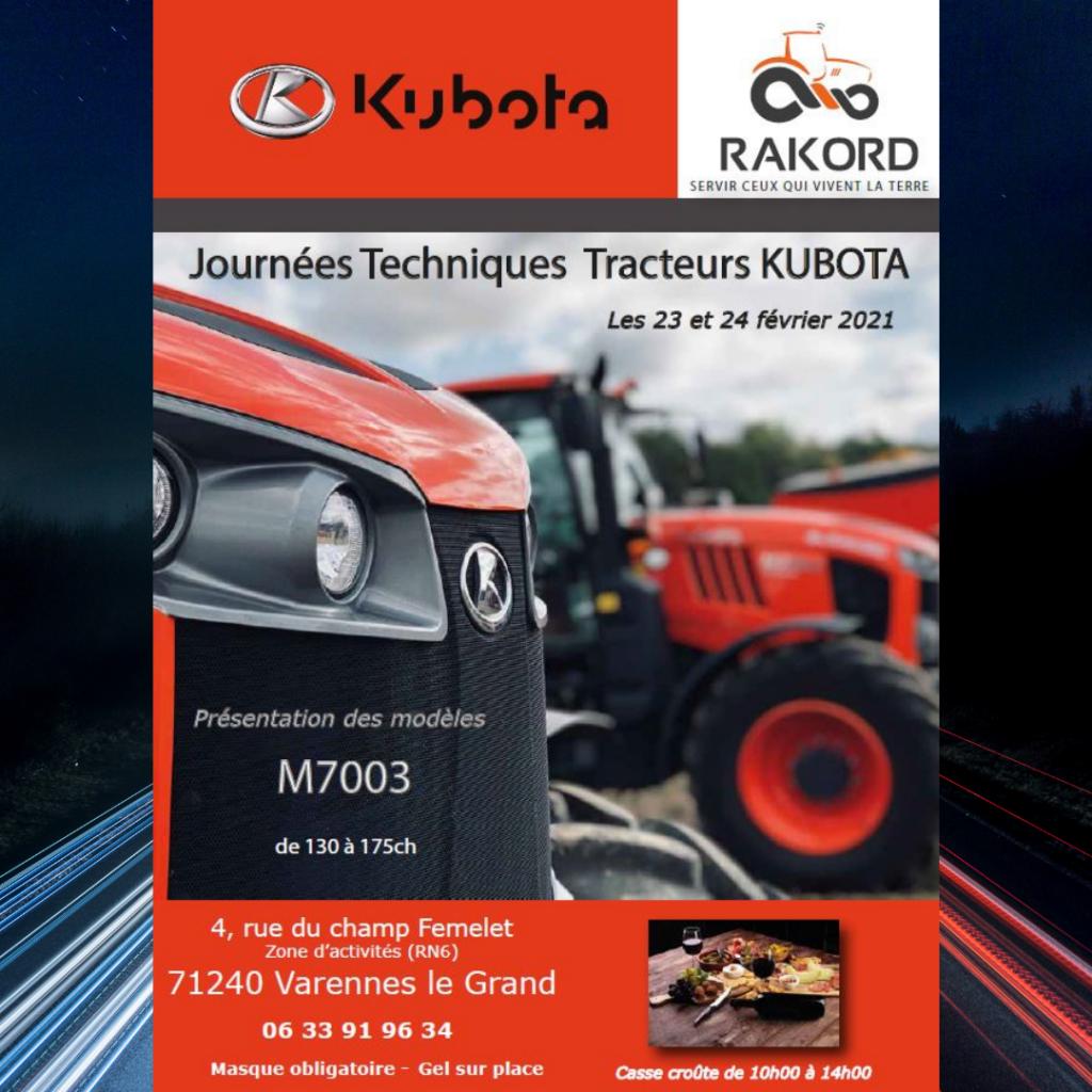 journées techniques tracteurs KUBOTA
